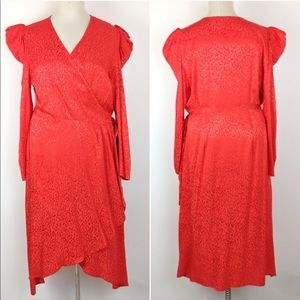 Eloquii Satin Animal Print Dress